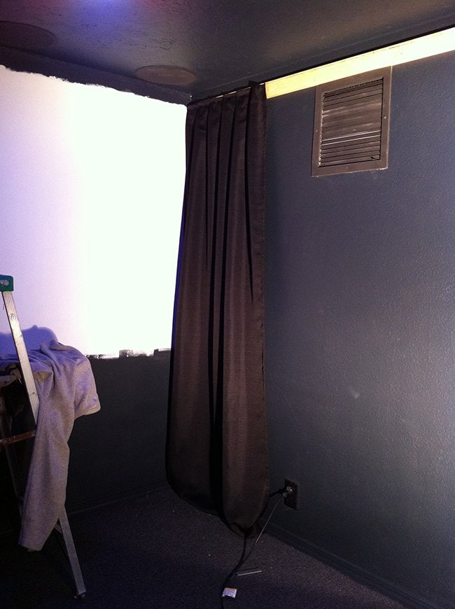 Home Theater Room Phase Ii Wall Curtains Projector Screen