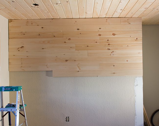 Kitchen Chronicles Finished Plank Ceiling Amp Wall Jenna