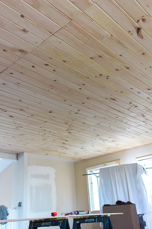 Diy Tongue And Groove Plank Ceiling