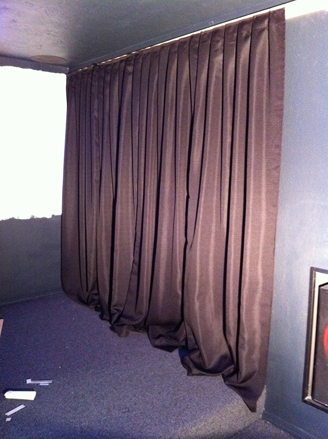 Home Theater Room Phase Ii Wall Curtains Projector Screen Jenna Sue Design Blog