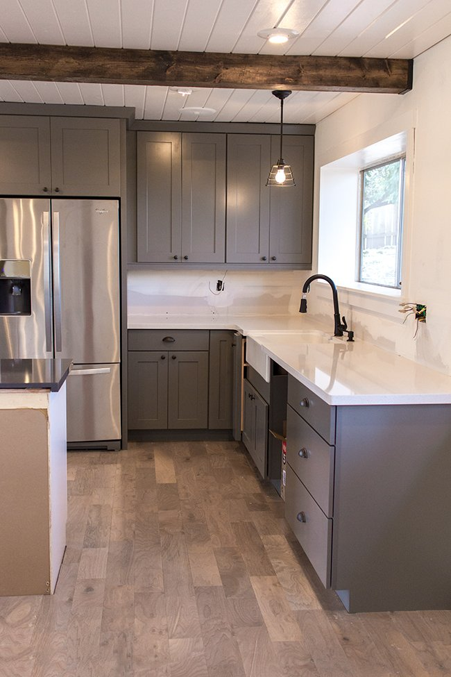Kitchen Chronicles The Counters Are In Pendant Light And Faucet Preview