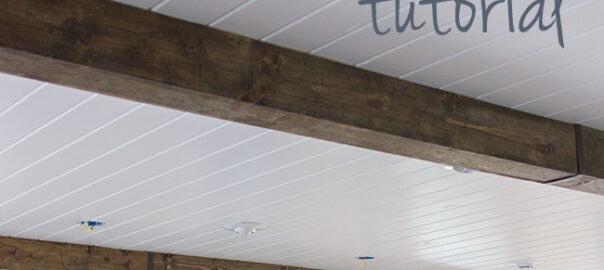 diy wood beams tutorial