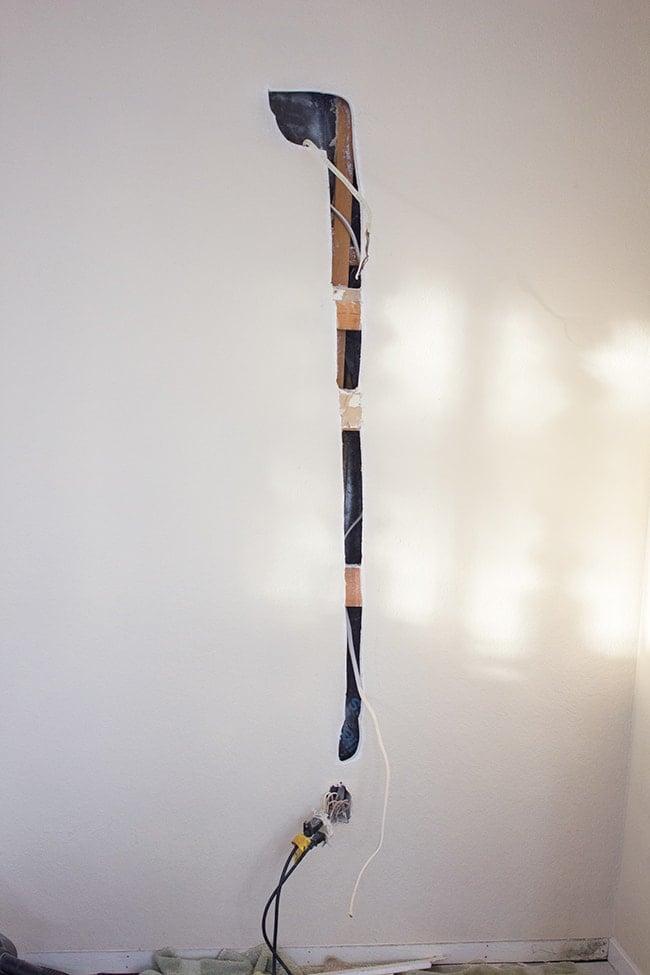 Living Room Plank Wall DIY | Jenna Sue Design Blog
