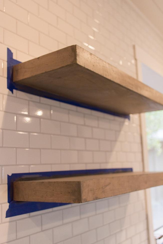 kitchen chronicles diy floating rustic shelves jenna sue design blog - Diy Floating Shelves