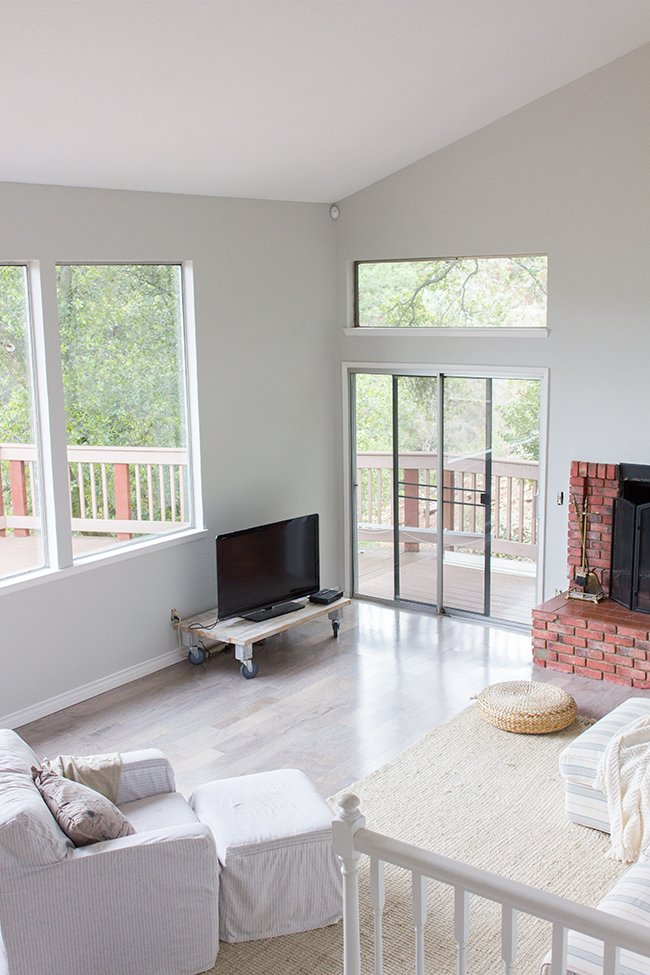 New Living Room Paint & A Fireplace Makeover