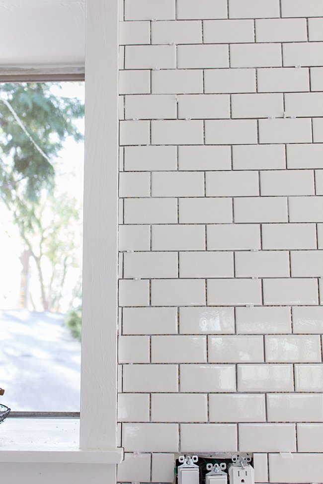 Kitchen Chronicles A Diy Subway Tile Backsplash Part 1,Rustic Grey Distressed Kitchen Cabinets