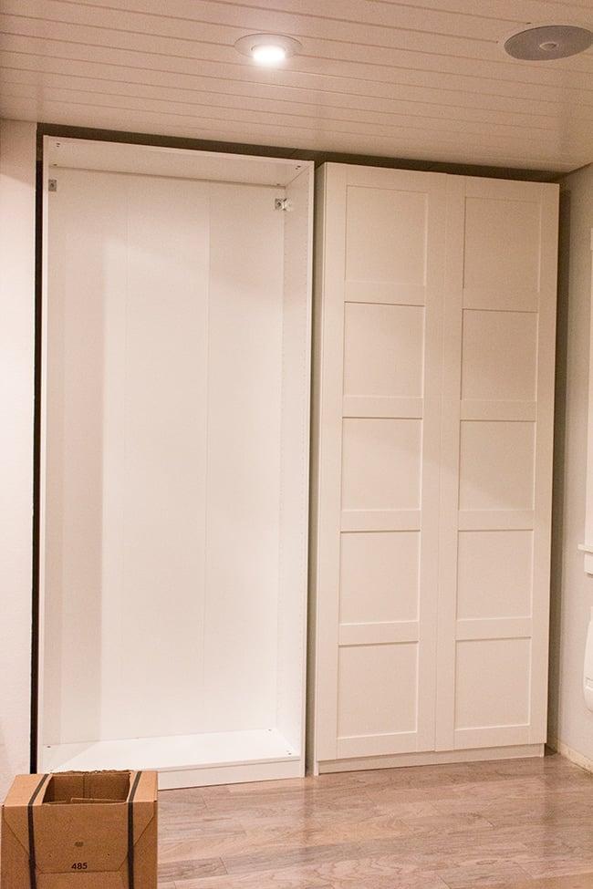 shallow wardrobe cabinet closet