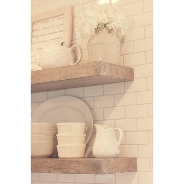 Kitchen Chronicles Diy Floating Rustic Shelves Jenna Sue Design Blog