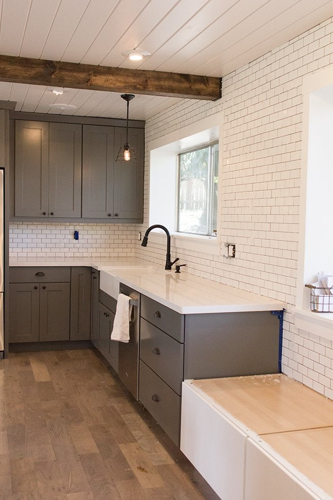 kitchen chronicles a diy subway tile backsplash part 1 jenna sue