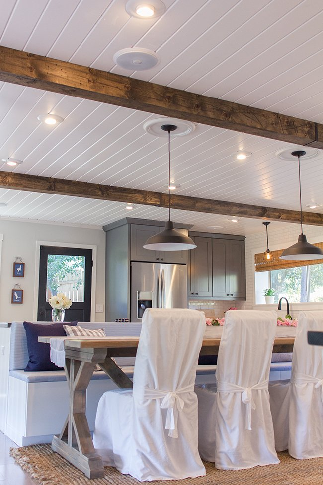 Kitchen source list budget breakdown jenna sue design blog for White ceiling with wood beams