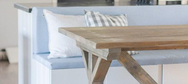 fancy x farmhouse table diy