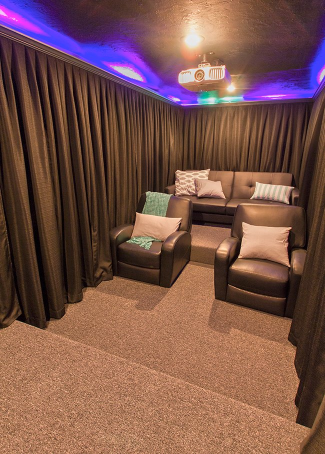 Small Home Theater Room Design: Our Home Theater Room: The Reveal