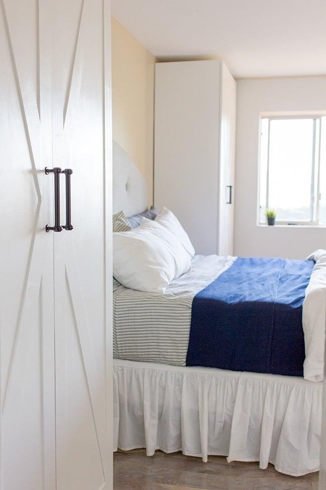 master makeover ikea pax door hack jenna sue design blog. Black Bedroom Furniture Sets. Home Design Ideas