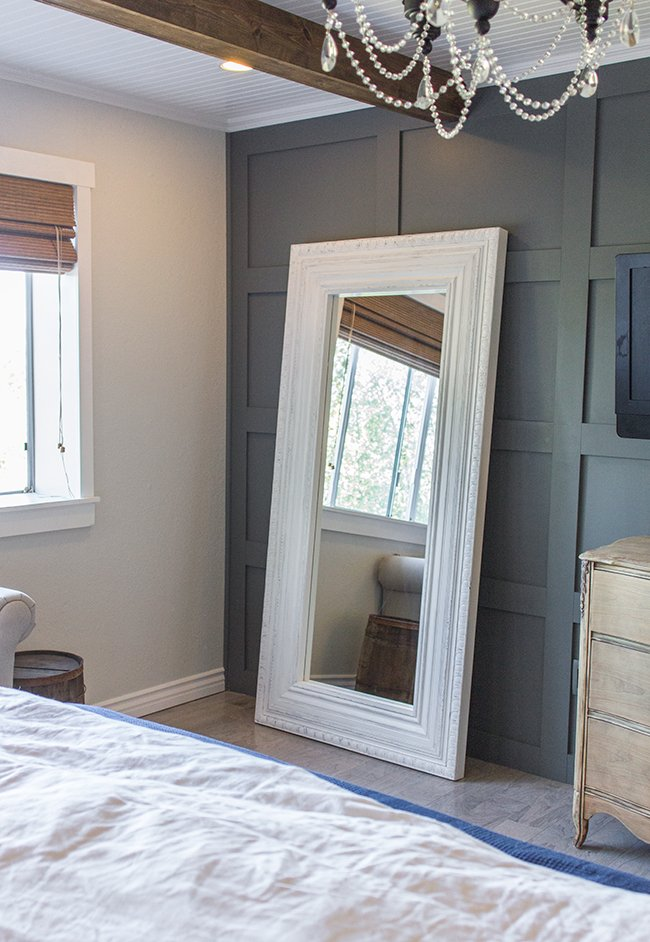 Master Makeover Diy Floor Mirror From Ikea To Vintage