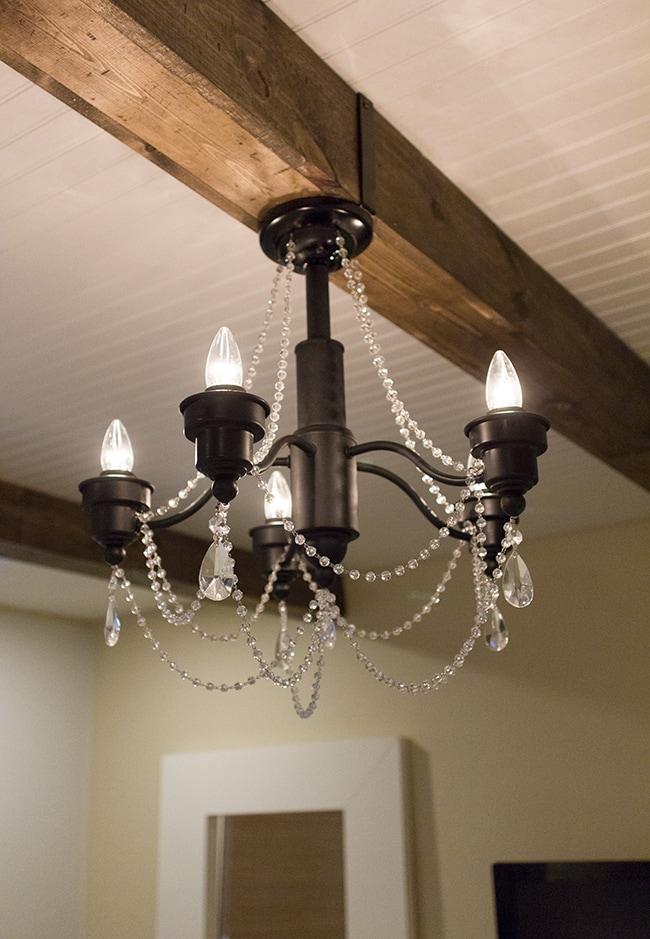 Master makeover a diy chandelier transformation jenna sue design blog aloadofball Image collections
