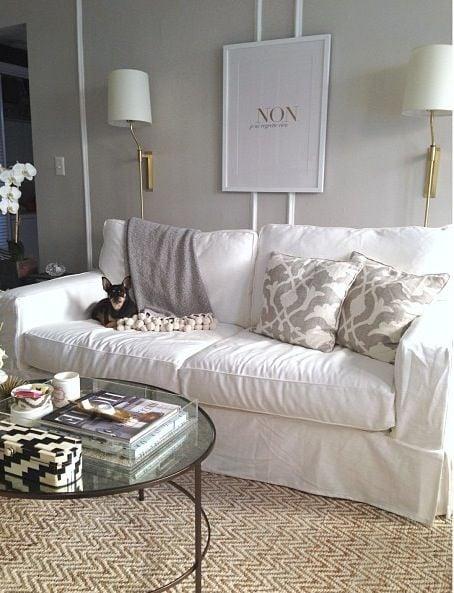 diy living room furniture. Living Room Details  DIY Cabinet Tree stump table and Sofa Slipcovers Jenna Sue Design Blog