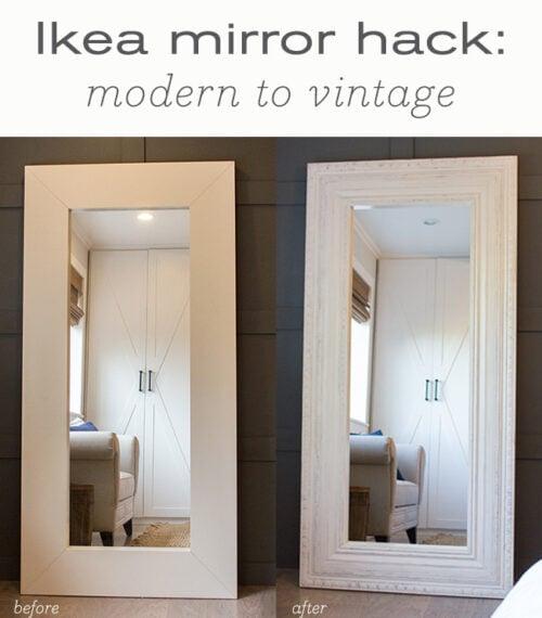 Ikea floor mirror hack