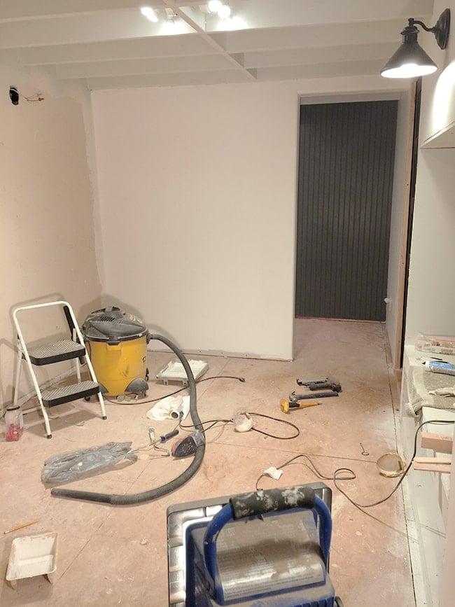 New Laundry Room: Beadboard wall, Paint & Lighting Jenna Sue Design Blog