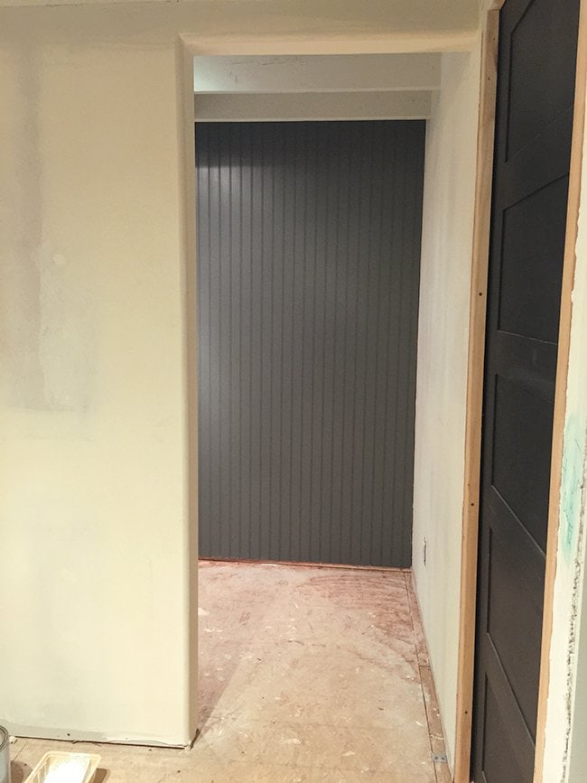 New Laundry Room Beadboard Wall Paint Lighting