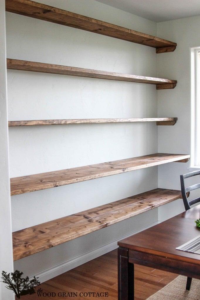 Diy Simple Wood Shelves, Laundry Room Storage Shelves