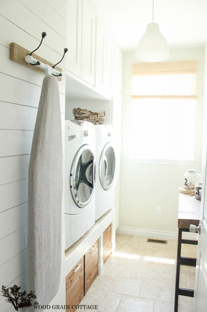 Laundry Room Fabric Part - 50: My Fabric Wasnu0027t The Same As Hers But I Loved The Pattern And Colors And  Knew It Would Be Perfect For My Space. I Bought Two Yards So I Could Have  An ...