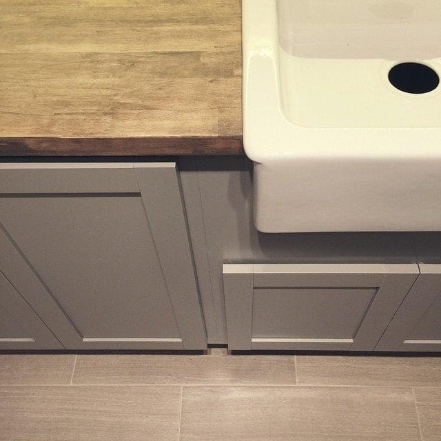 Laundry Farmhouse Sink : New Laundry Room: Cabinets, Butcher Block & Farmhouse Sink Jenna Sue ...