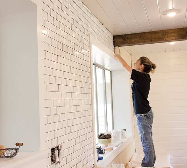 New Laundry Room: Subway Tile & Grout