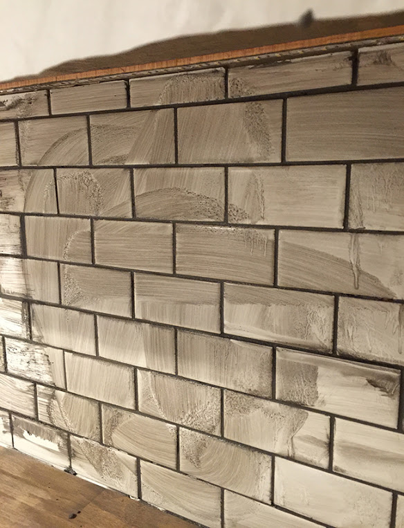 Colored Grout And New Tile Create Fresh Bathroom Look: New Laundry Room: Subway Tile & Grout