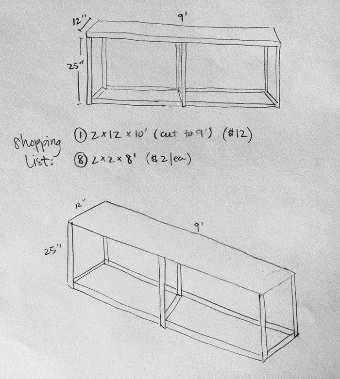 $30 DIY Sofa/Console Table Tutorial | Jenna Sue Design Blog