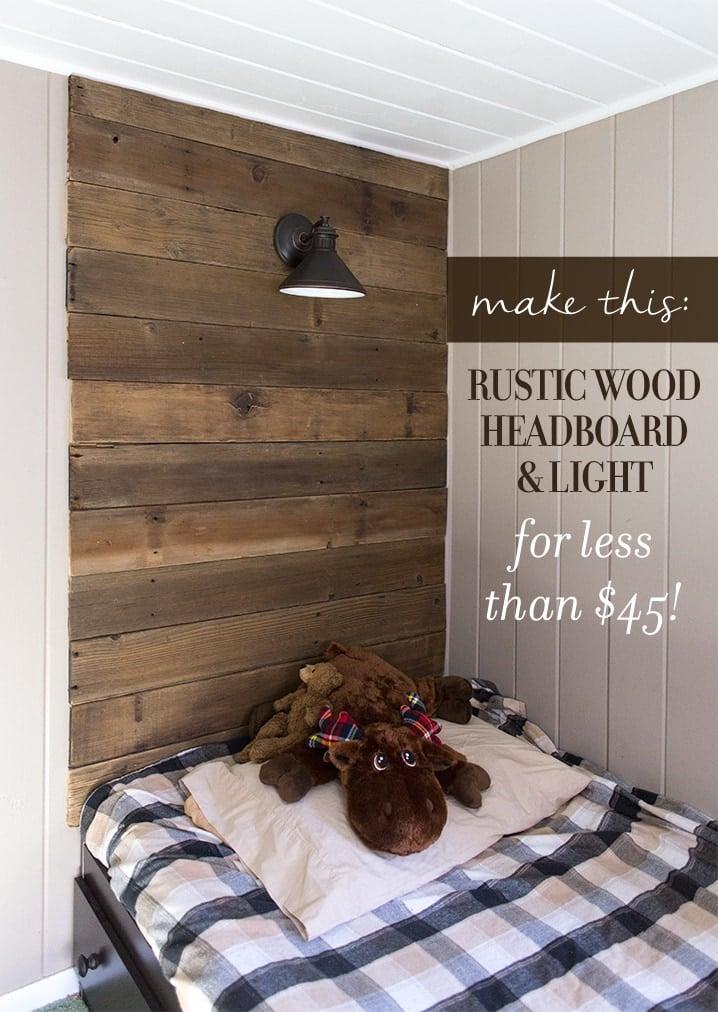 Diy Rustic Wood Headboard Light For