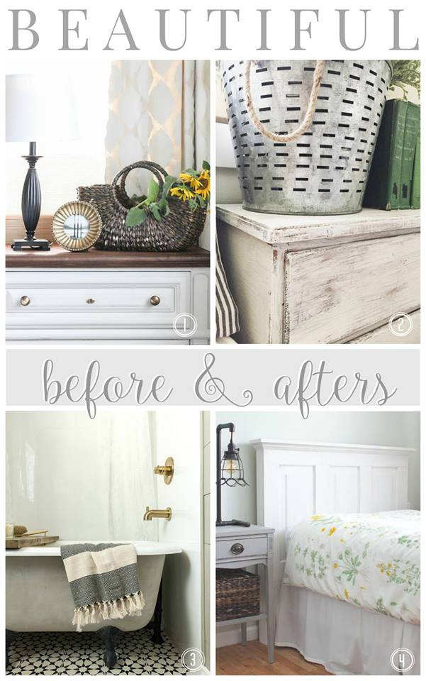 A new tub turned vintage with lime & chalk paint