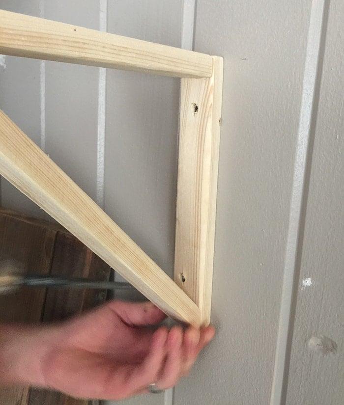 Simple DIY Wall Desk, Shelf & brackets (for under $23!)