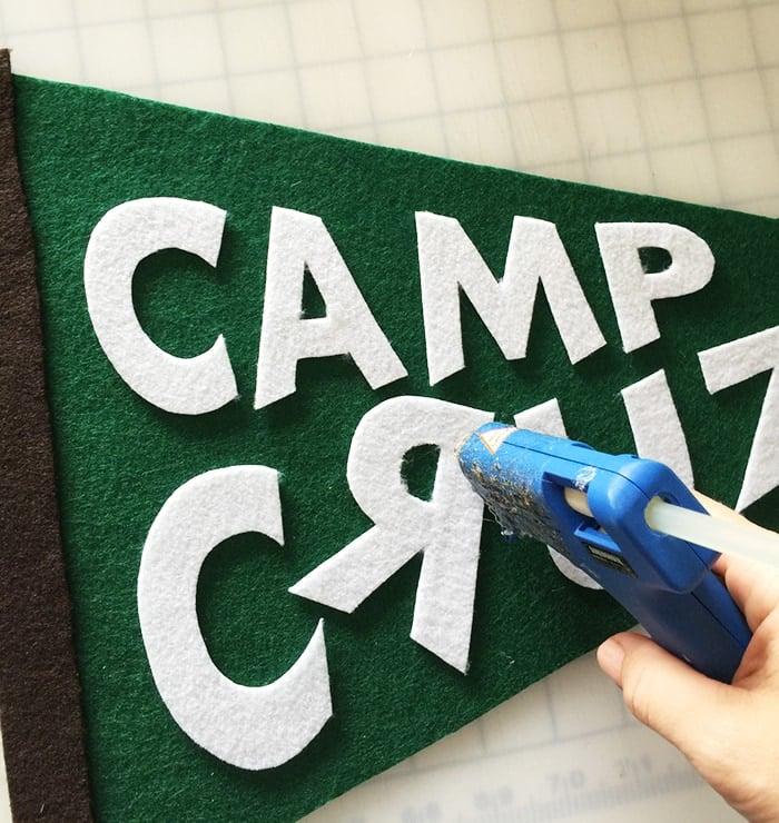 DIY Personalized Felt Pennant Flag tutorial (for under $5!)