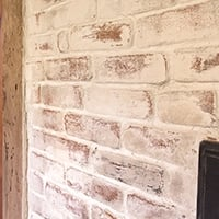 Mortar Wash Fireplace