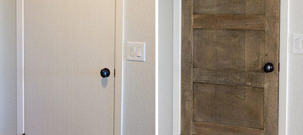 Plain to salvage wood door DIY tutorial