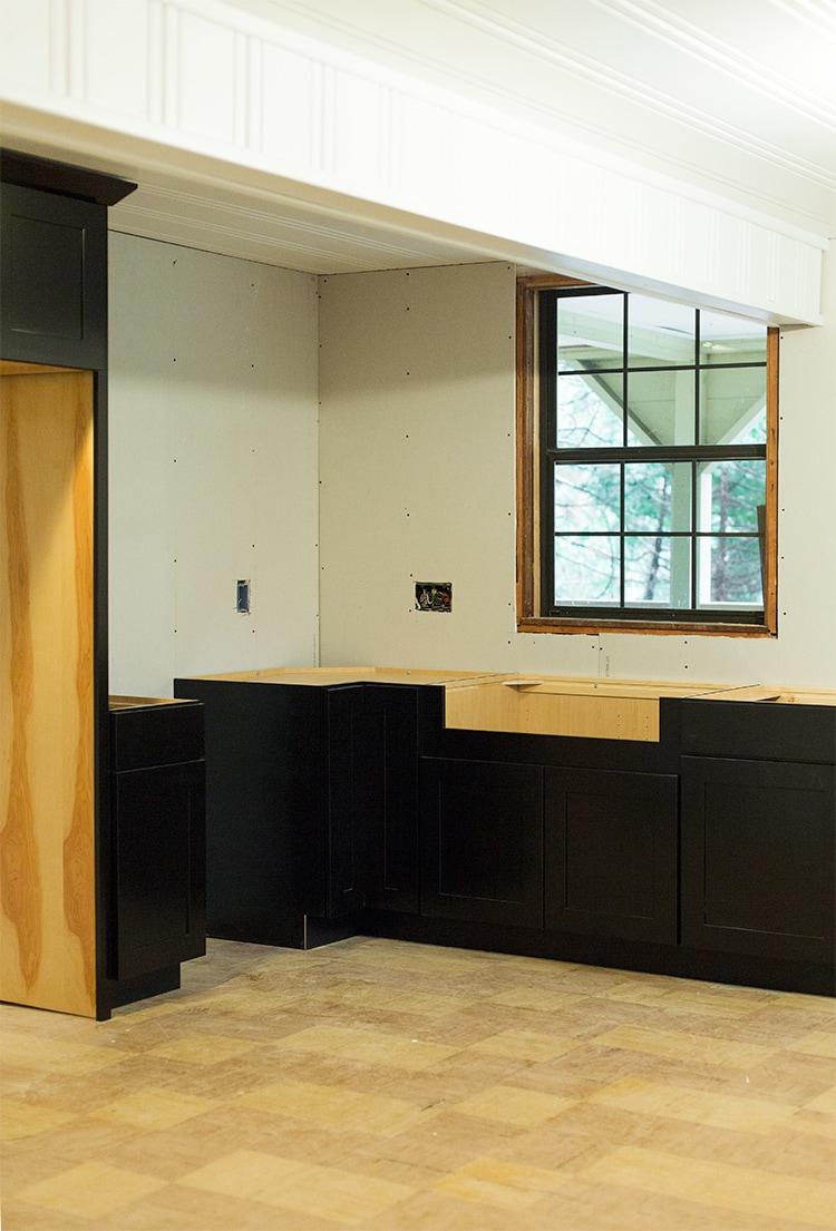 Kitchen Cabinets & Stenciled Walls: Cottage House Flip ...