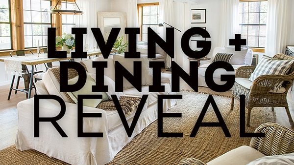 The Living & Dining Room: Cottage House Flip Reveal | Jenna ...