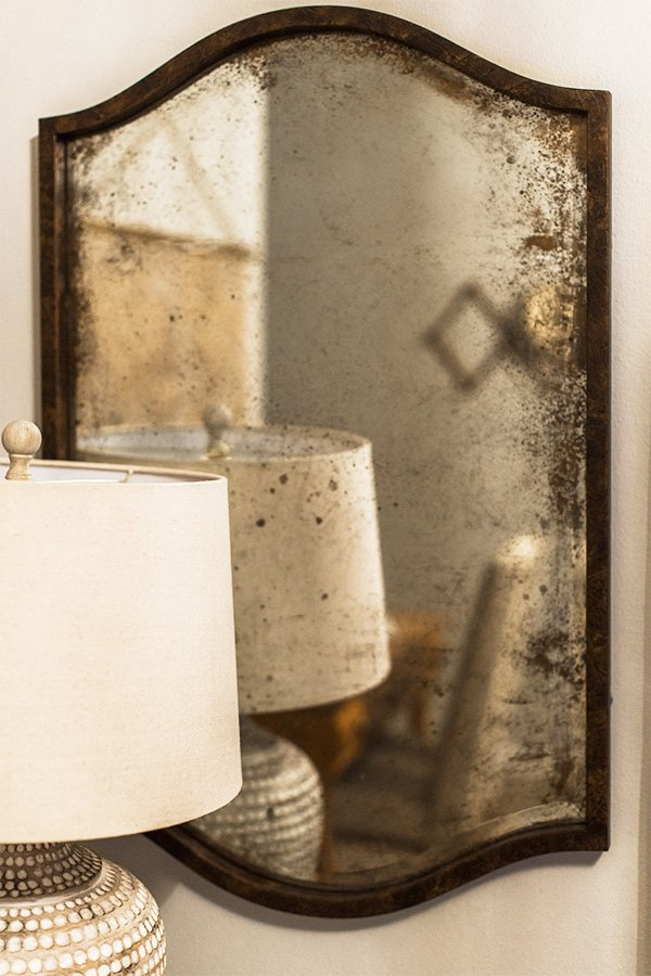 How to Antique a Mirror Tutorial | Jenna Sue Design Blog