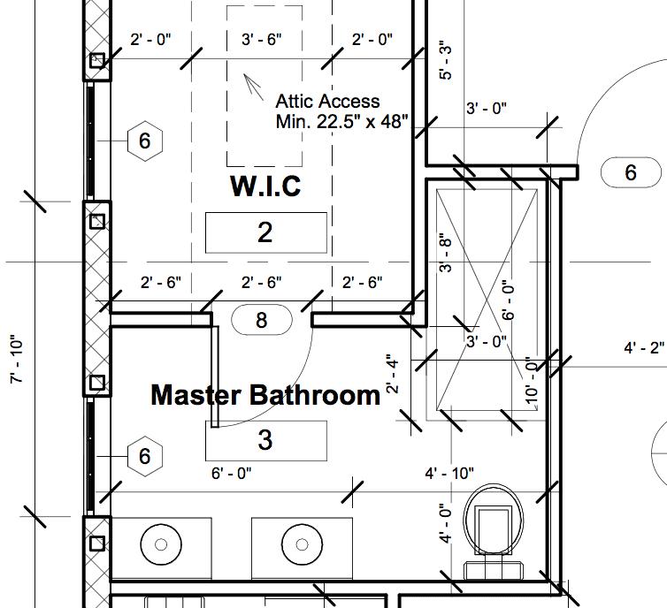 Heights House Master Bathroom Plan