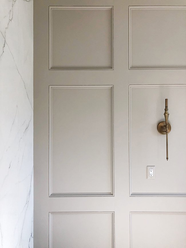 accessible beige wall molding
