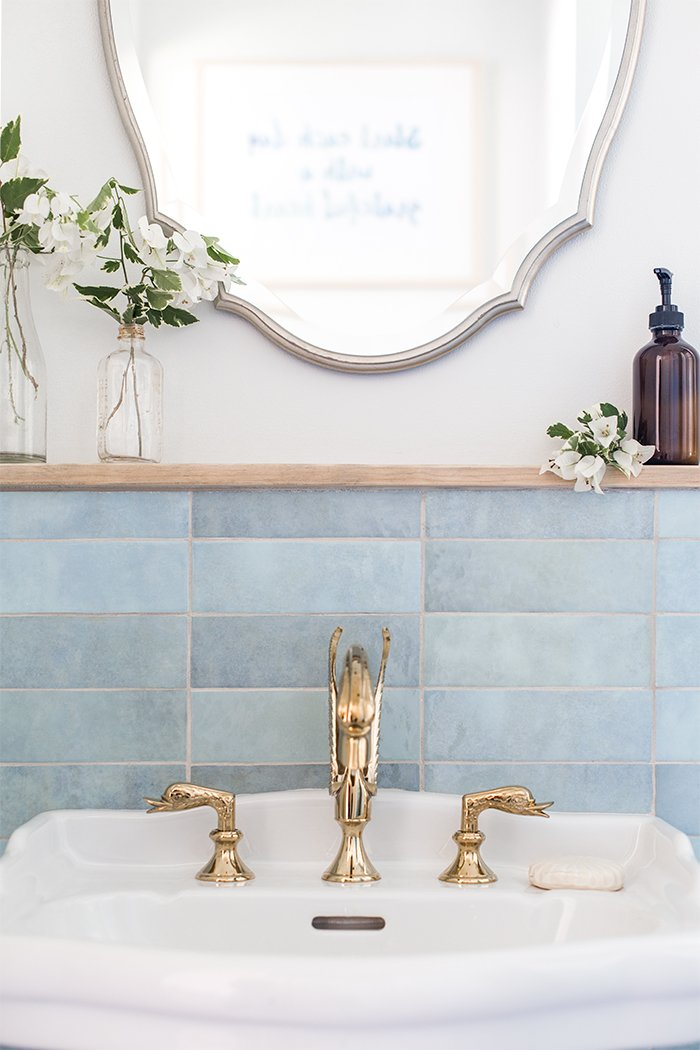 blue lagoon bathroom reveal