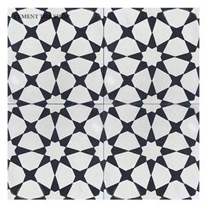 black white patterned tile