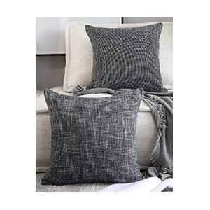 Black Linen Pillows