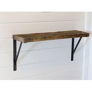 foyer wood shelf