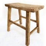 DIY elm wood stool
