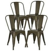 metal dining chair set