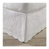 white Quilted Bed skirt