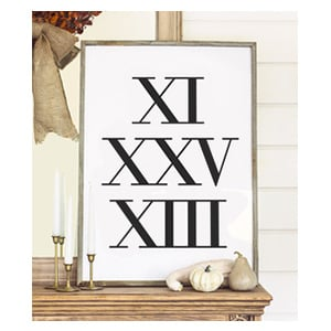 roman numerals art