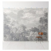 Etched Acadia Wall Mural