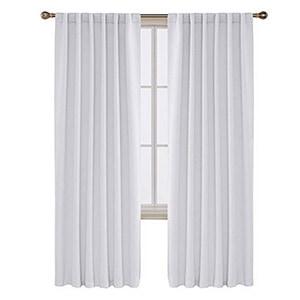 greyish white blackout Curtains